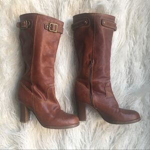 COACH Leather Heeled Boots